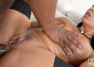 BBC stretches both holes of sexy Anissa Kate