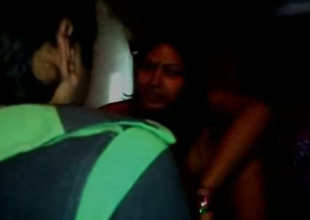 Sexy Indian GF is riding hard dick in a dark room