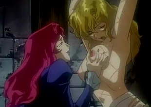 Shackled hentai hotty abused in a dungeon