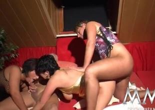 Swinging sluts love big cocks inside 'em