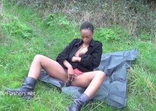 Ebony babe Michelles public