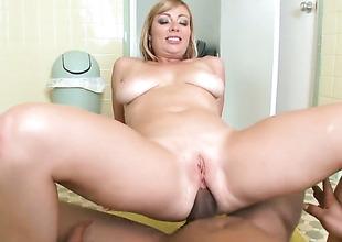 Interracial anal with big boobed Adrianna Nicole