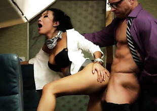 Asa Akira gets naughty in a foursome