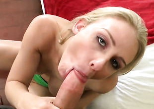 Beautiful hoochie Madison Fox gets her pretty face covered in goo after sex with hot man