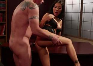 Hawt asian porn diva Asa Akira with hot legs and perfect firm boobs gets her constricted neatly shaved pussy stuffed previous to she takes it in her asshole. Asa Akira loves butt banging so much!