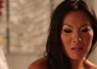 2 lesbian milfs, Asa Akira and Jessica Drake got together alone in a massage room, and they started undressing each other. That really slowly lead to some fine ass, lesbian sex