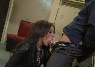Gorgeous brunette Capri Cavali with flawless fake boobs gets her soaking moist slit screwed good and hard with her ripped fishnet pantyhose on. Watch busty slut get humped