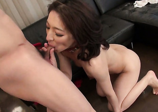 Dangerously horny sweetie Marina Matsumoto gets the pussy fuck of her dreams with hard dicked dude