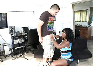 Nyomi Banxxx has a good time playing with dudes cum loaded dick