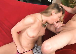 Xander Corvus gives unthinkably hot Amanda Blows bush a try in steamy porn action
