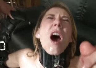 Saucy Amber Ashley doused with thick cum