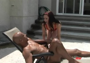 White bitch is desperate to finally have fun with a BBC