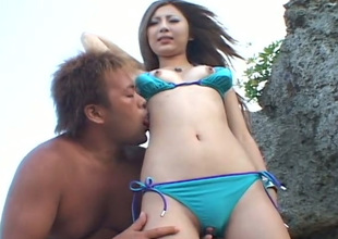 This Asian nympho loves the feeling of her guy's tongue on her clit