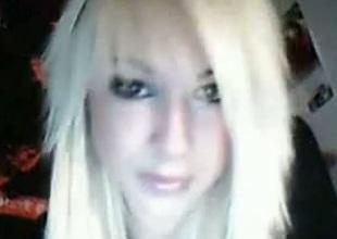 Hot young skank on webcam masturbating in her bedroom