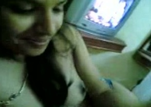 My Indian web camera ally shows her natural tits to me