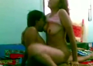 Sex crazed Indian slut loves having sex with her hubby at home