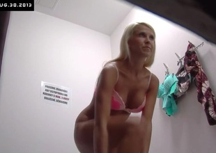 Czech Blonde Sweetheart Tries Out Underclothing