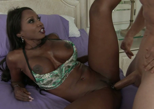 Bewitching ebony damsel Diamond Jackson  acquires drilled hard