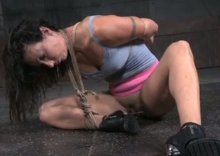 Hussy jade Karmen Karma is toy fucked in domination porn video