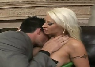 Billy Glide makes his stiff ram rod disappear in unbelievably hot Candy Mansons mouth