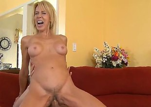 Blond Erica Lauren is good on her way to satisfy her hard cocked fuck buddy Chris Johnson