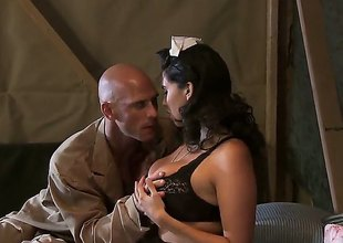 Johnny Sins gets tempted by Missy Martinez with big breasts and then drills her muff