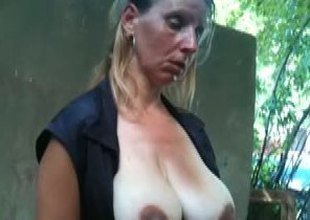 Flash and then Cum in the throat preggy aged chicks