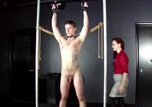 CBT&Ballbusting - MadeilineC Flogged Paddled & Smacked