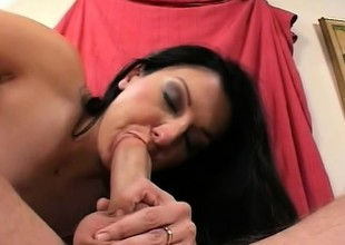 Renee Pornero slips a dick down her throat and acquires it deep in her tight ass