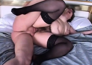 A fat and nerdy bitch gets the rough vagina drilling she deserves