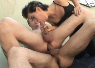 Bisexual couple gets some love from a stud with a large schlong