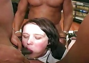 White bbw given anal by big black cocks