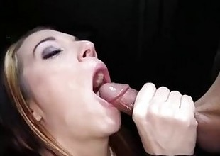 Gloryhole Secrets fit redhead swallows loads of cum 1