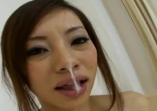 Reina Yoshii is damn hot AV Idol that can't live without to take up with the tongue and engulf on cock. In this japanese pov porn clip we can watch how much passion she puts into it when her small tits are pinched not so gently. She blows it, take up with the tongue it and gets turned on with each strone of t