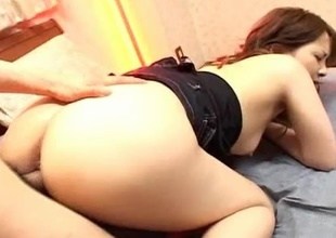 The lovely Junna Aikawa really has her hands and pussy full in this video! See her dificulty in trying to fit a big, hard cock inside her small, pink pussy. Junna Aikawa shows us that she is not one to back down from a good fuck even if she has to work