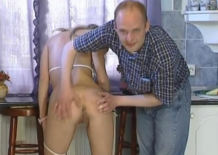 This horny hungarian golden-haired bombshell is joined by two males for some wild 3 way action. She plays with herself a bit then this babe drops to here knees servicing the one and the other guys cocks, then Robert gets on his knees and helps Angie suck off Sziszi. Once that guy is good and