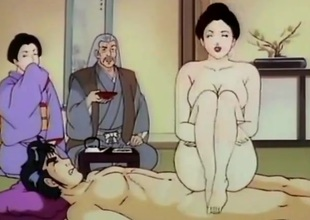 Busty hentai girl drilled in the dojo