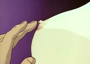 Passionate hentai lovemaking with a merry tits beauty
