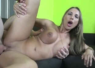 Two babes with smoking hot fake tits get laid