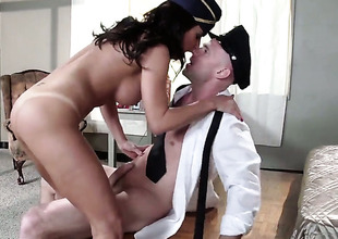 Johnny Sins is horny and cant wait any longer to group-sex magically sexy Lezley Zens mouth