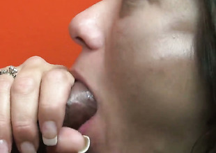 Cece Stone finds her mouth filled with dudes throbbing sausage