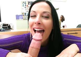 Brunette Violet Marcelle is extremely horny in this cumshot scene